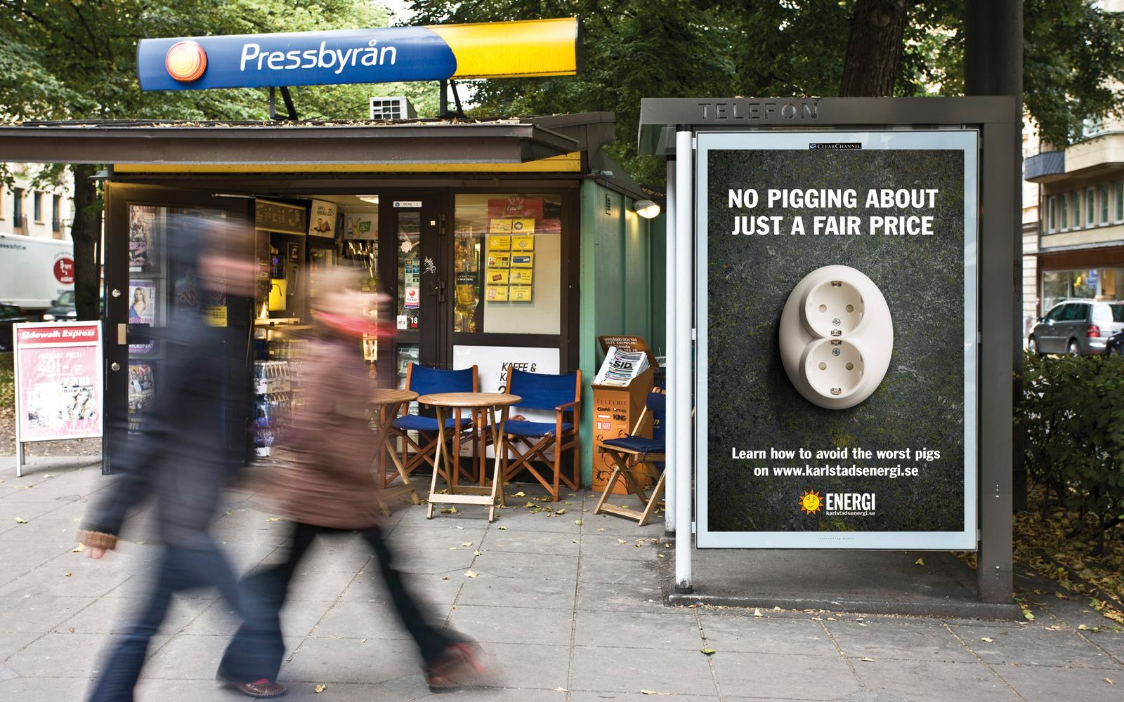 Karlstad Energy Outdoor Ad -  No pigging about