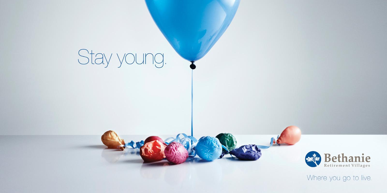 The Bethanie Group Outdoor Ad -  Balloons... No puff
