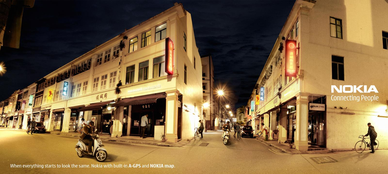 Nokia Outdoor Ad -  Night