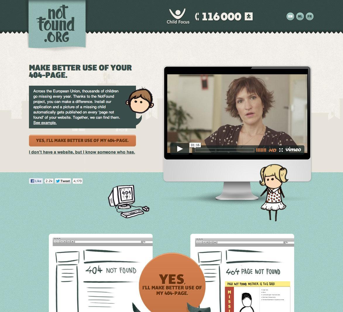 Missing Children Digital Ad -  Notfound.org