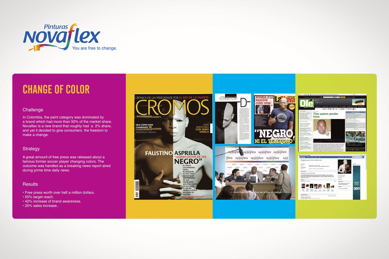 Novaflex Ambient Ad -  Change of color