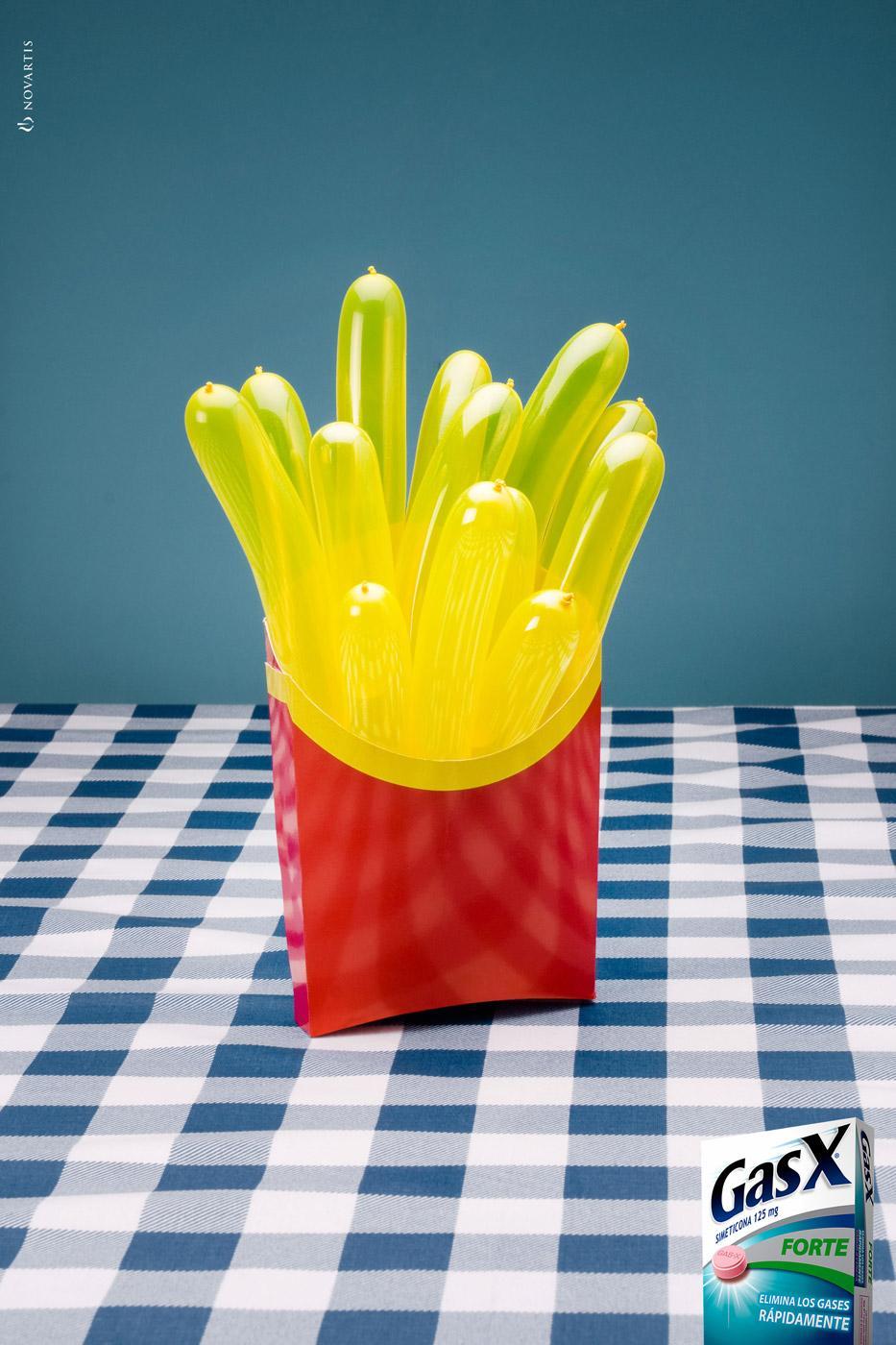 GasX Print Ad -  French fries