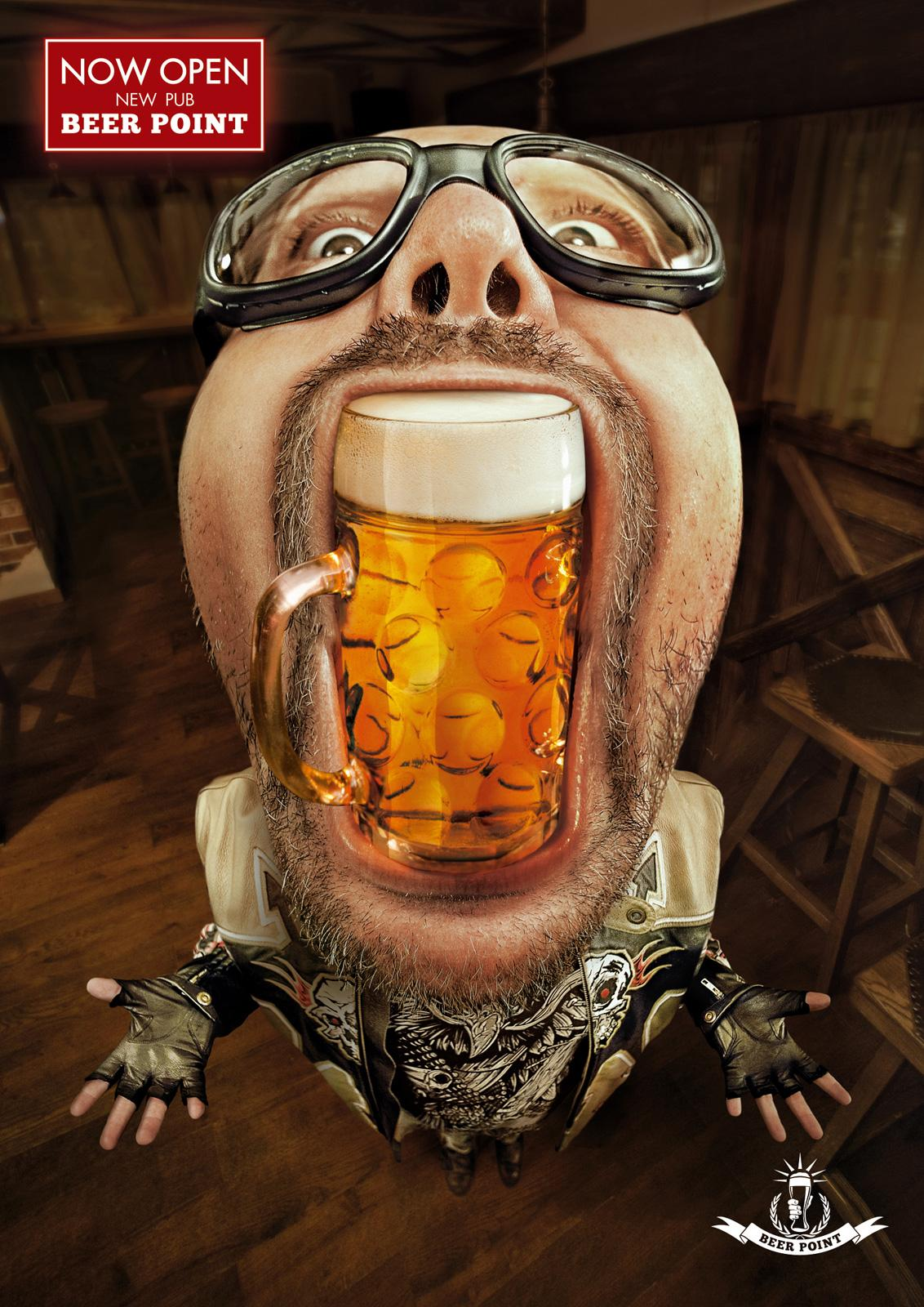 Beer Point Print Ad -  Paulaner, 1