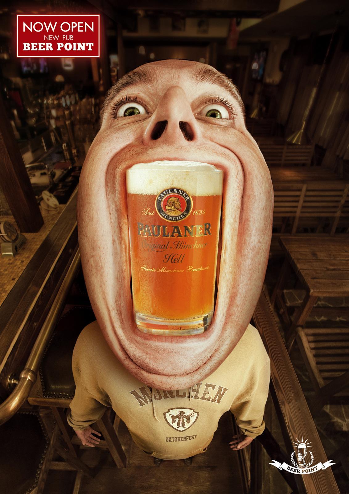 Beer Point Print Ad -  Paulaner, 2