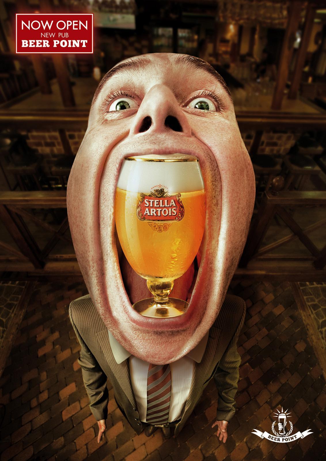 Beer Point Print Ad -  Stella Artois