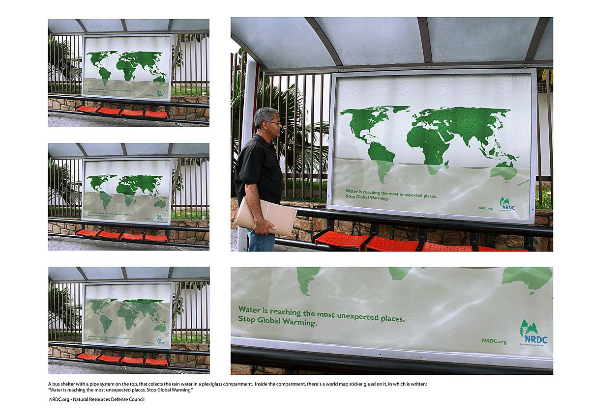 NRDC Ambient Ad -  Bus shelter