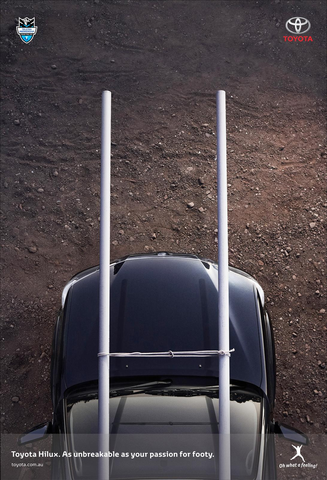 Toyota Print Ad -  NRL goalposts