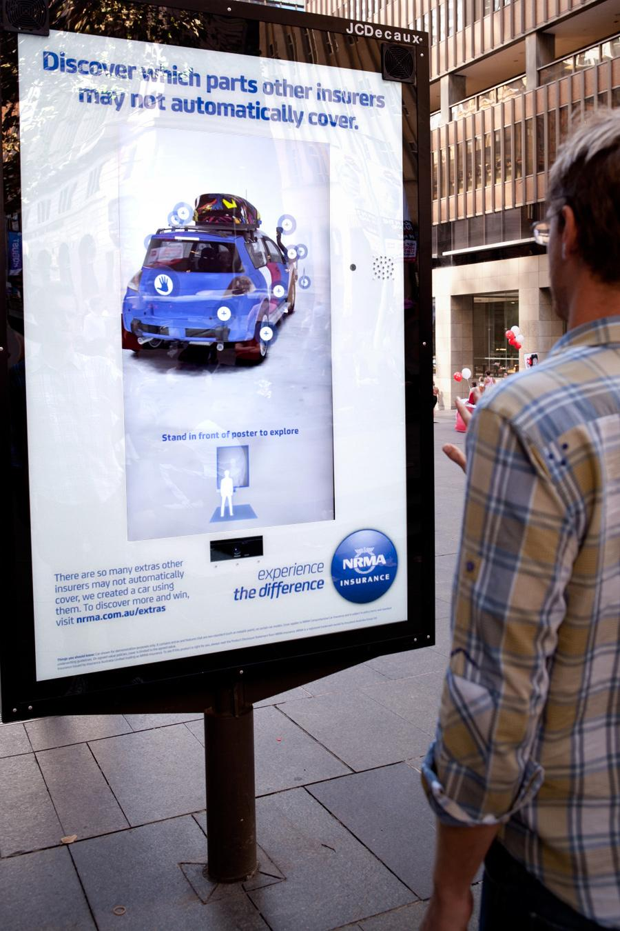 NRMA Outdoor Ad -  Motion Activation Interactive Outdoor Installation
