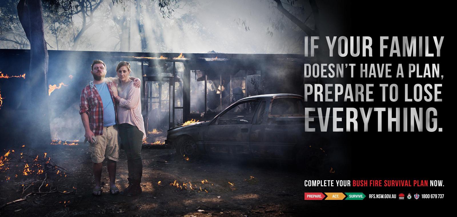 NSW RFS Outdoor Ad -  Car