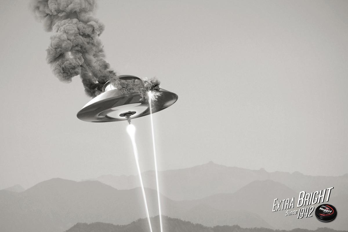Nugget Print Ad -  UFO