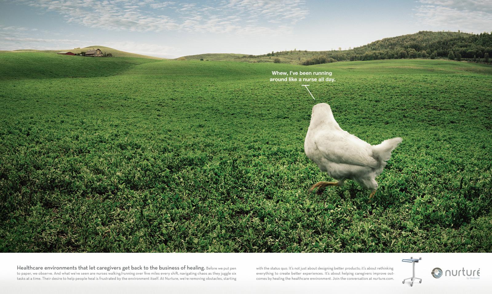 Nurture by Steelcase Print Ad -  Chicken
