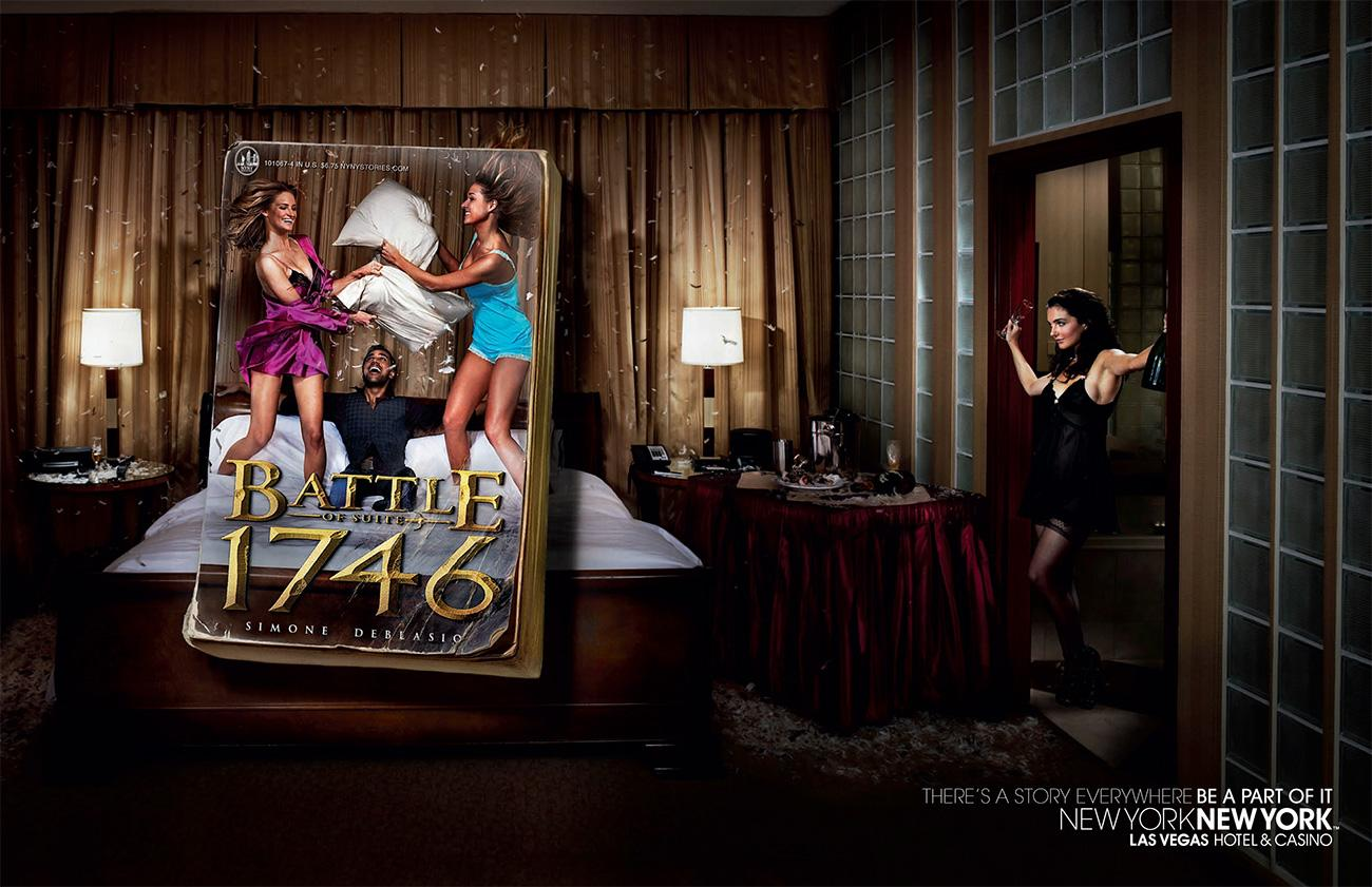 New York New York Hotel and Casino Print Ad -  Book cover, 3