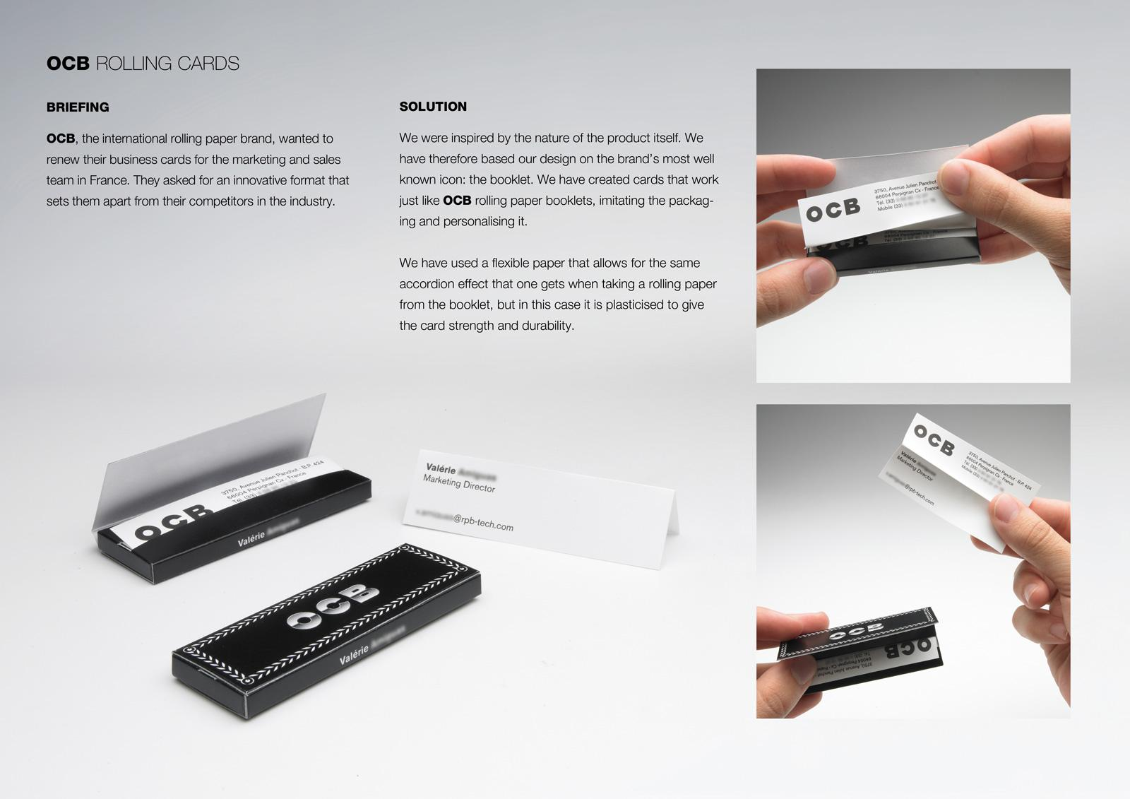 OCB Direct Ad -  Rolling business cards