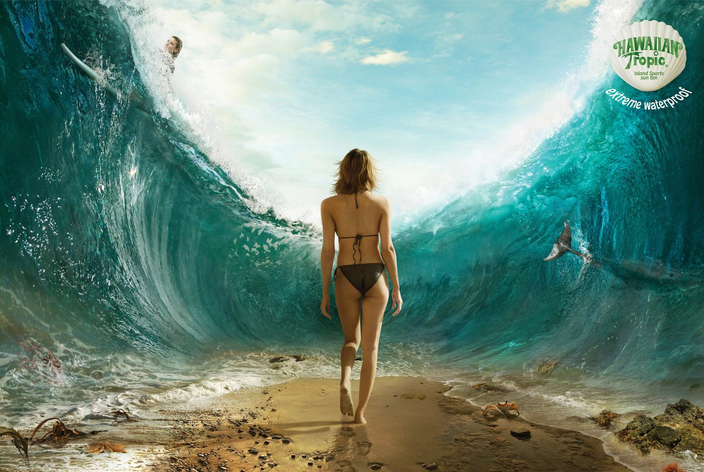 Hawaiian Tropic Print Ad -  Ocean