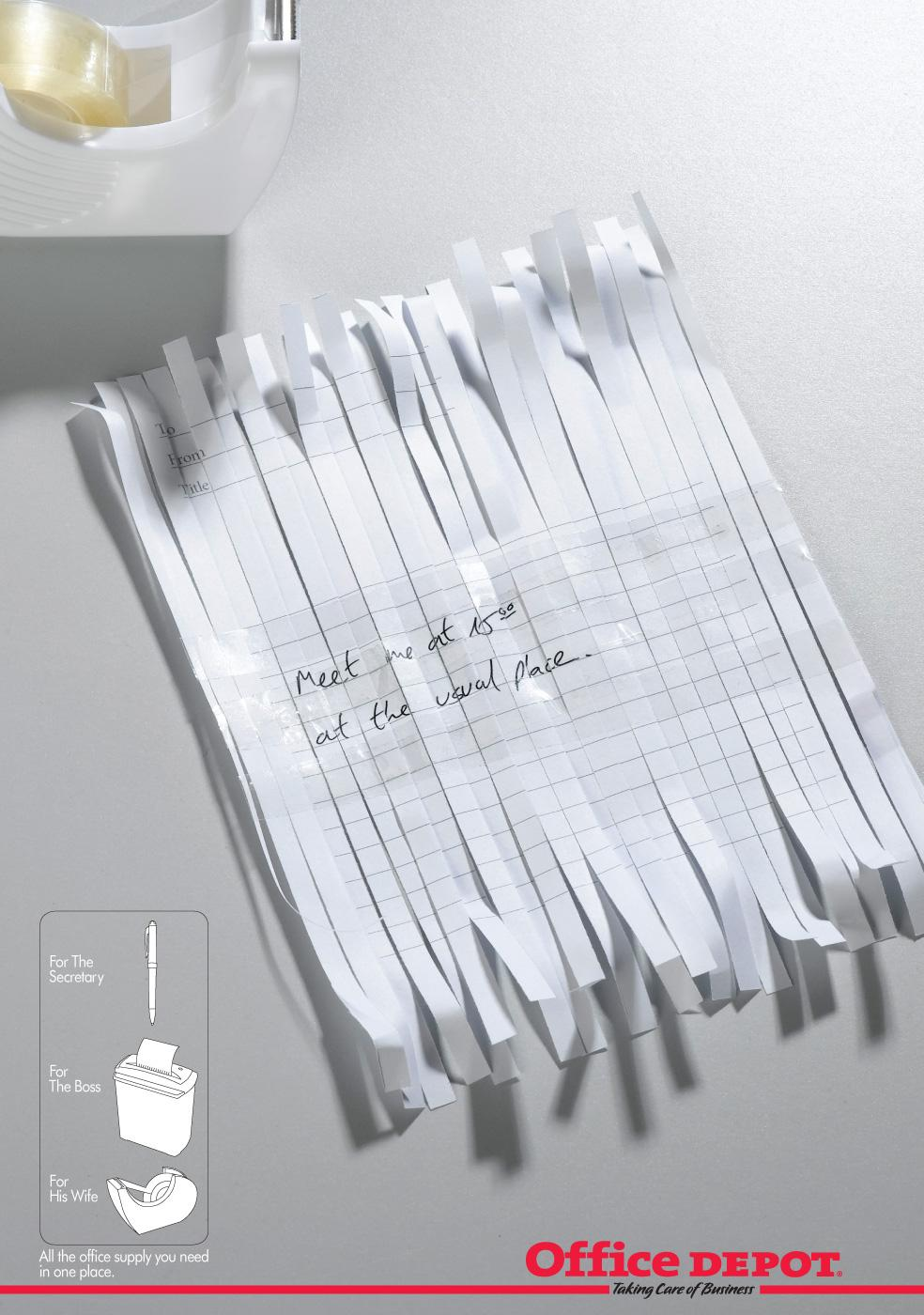 Office Depot Print Ad -  Note