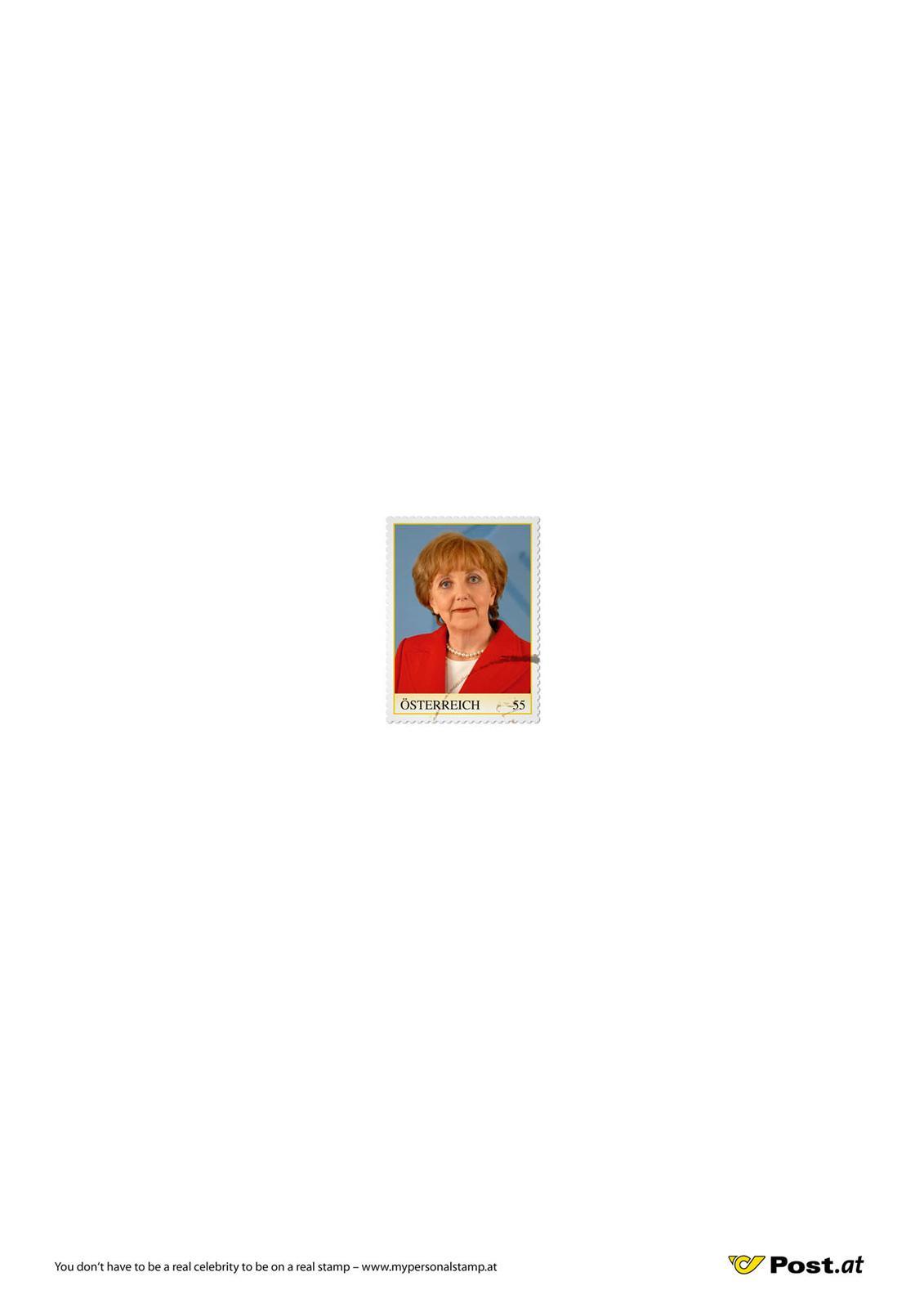 Österreichische Post Print Ad -  Merkel
