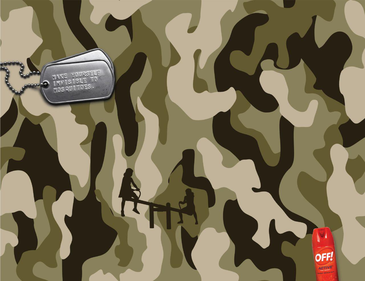 Off! Print Ad -  Invisible camouflage, Seesaw