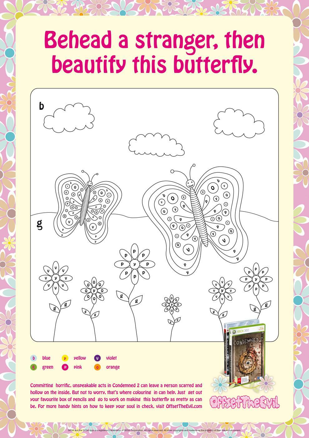 Sega Print Ad -  Butterfly