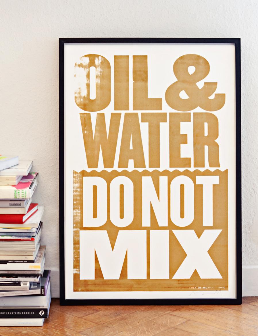Coalition to Restore Coastal Louisiana Print Ad -  Oil & Water Do Not Mix