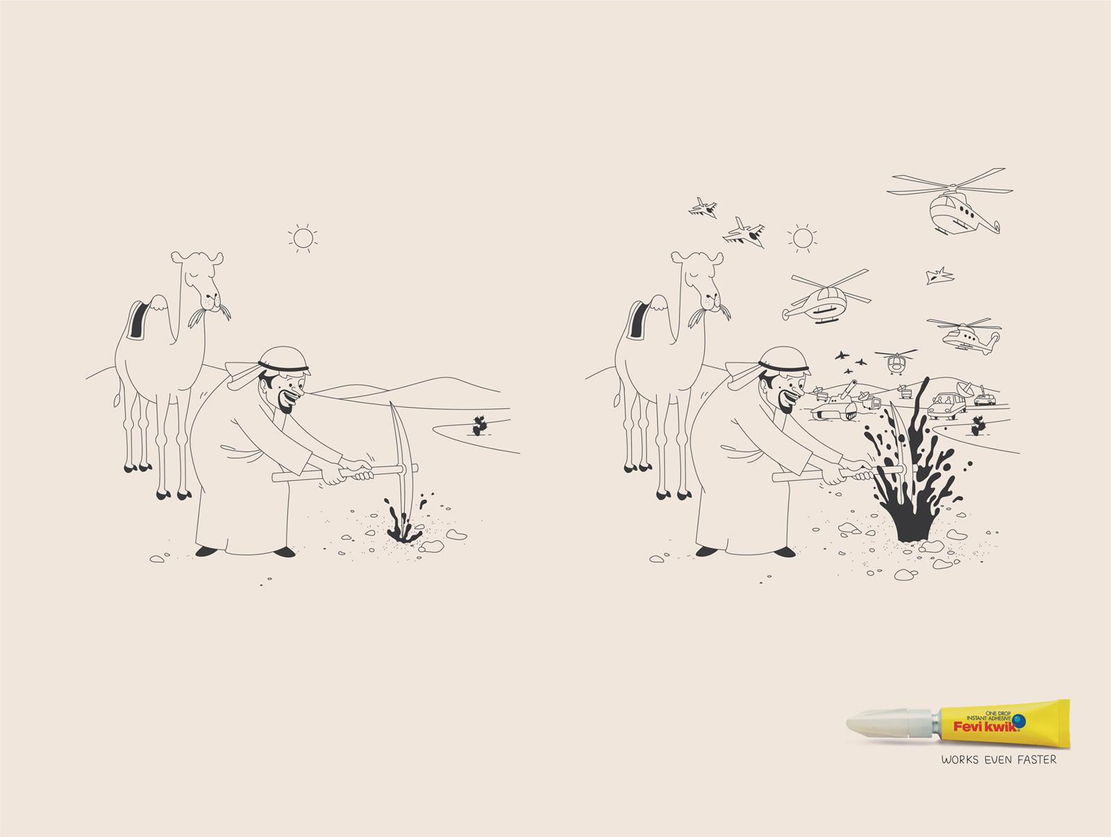 Fevi Kwik Print Ad -  Oil