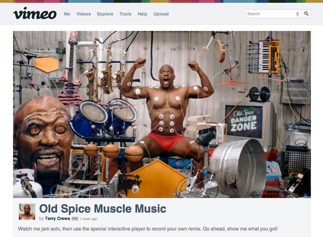 Old Spice Digital Ad -  Muscle Music