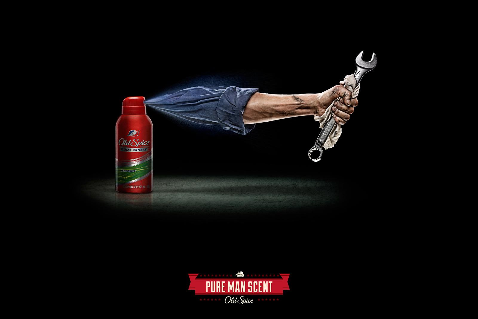 Old Spice Print Ad -  Arms, Mechanic