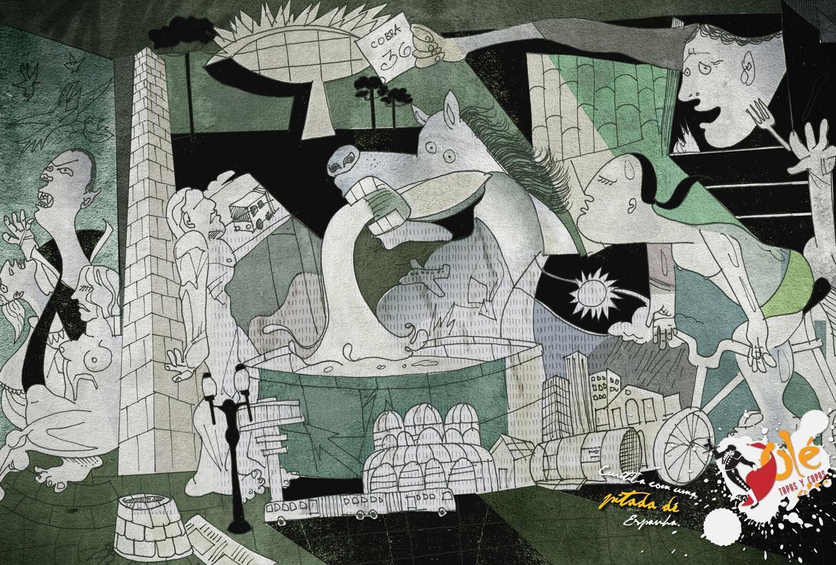 Olé Print Ad -  Guernica