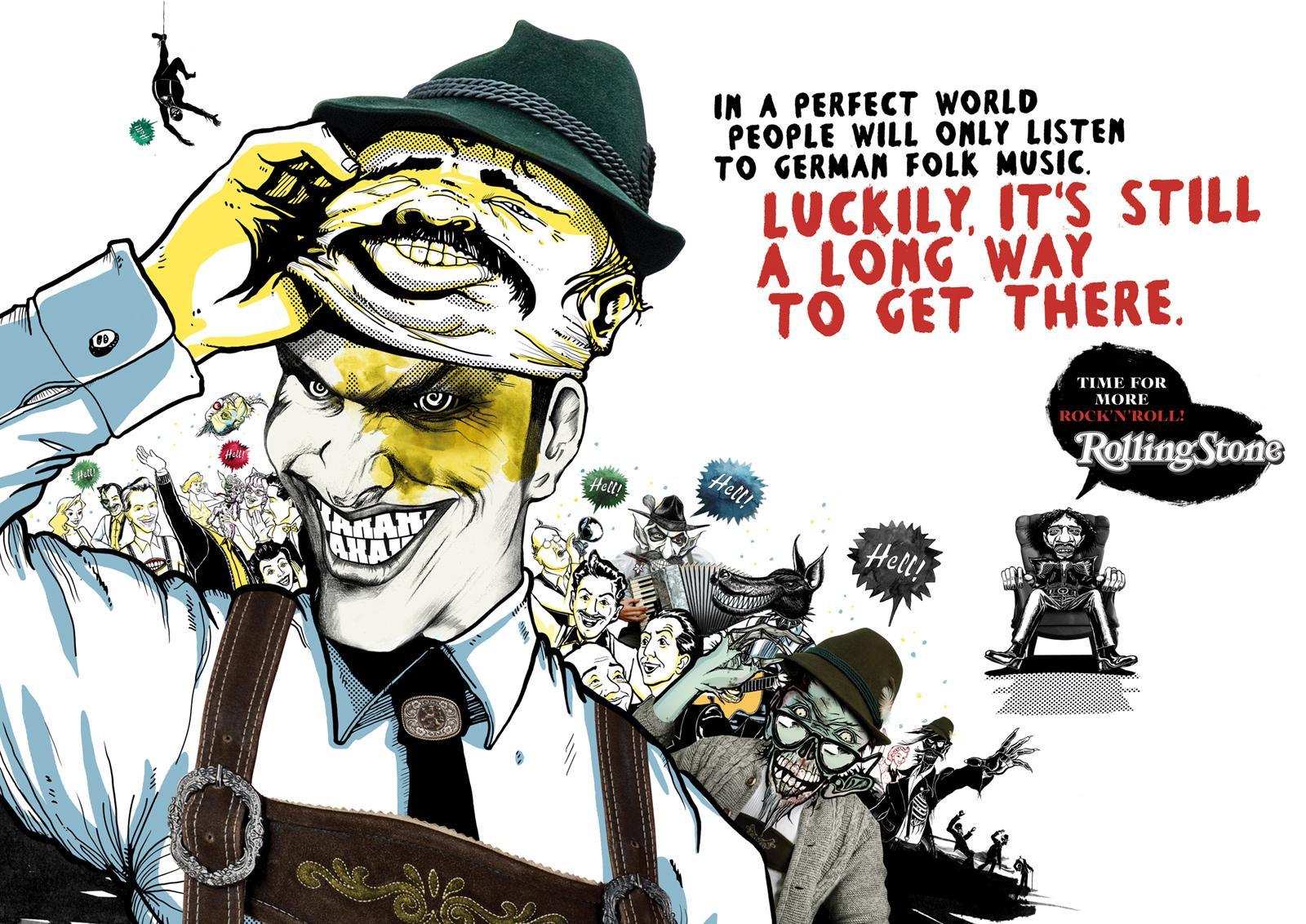 Rolling Stone Print Ad -  Folk