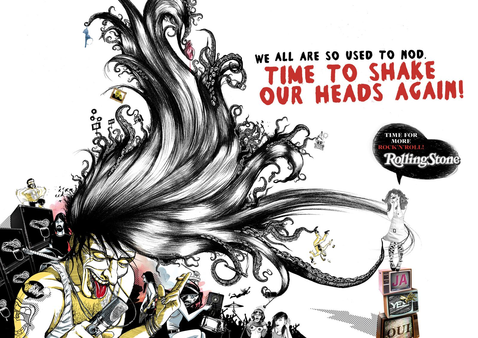 Rolling Stone Print Ad -  Headbanger