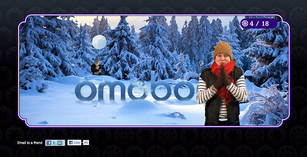 Omobono Digital Ad -  Agency Christmas Card