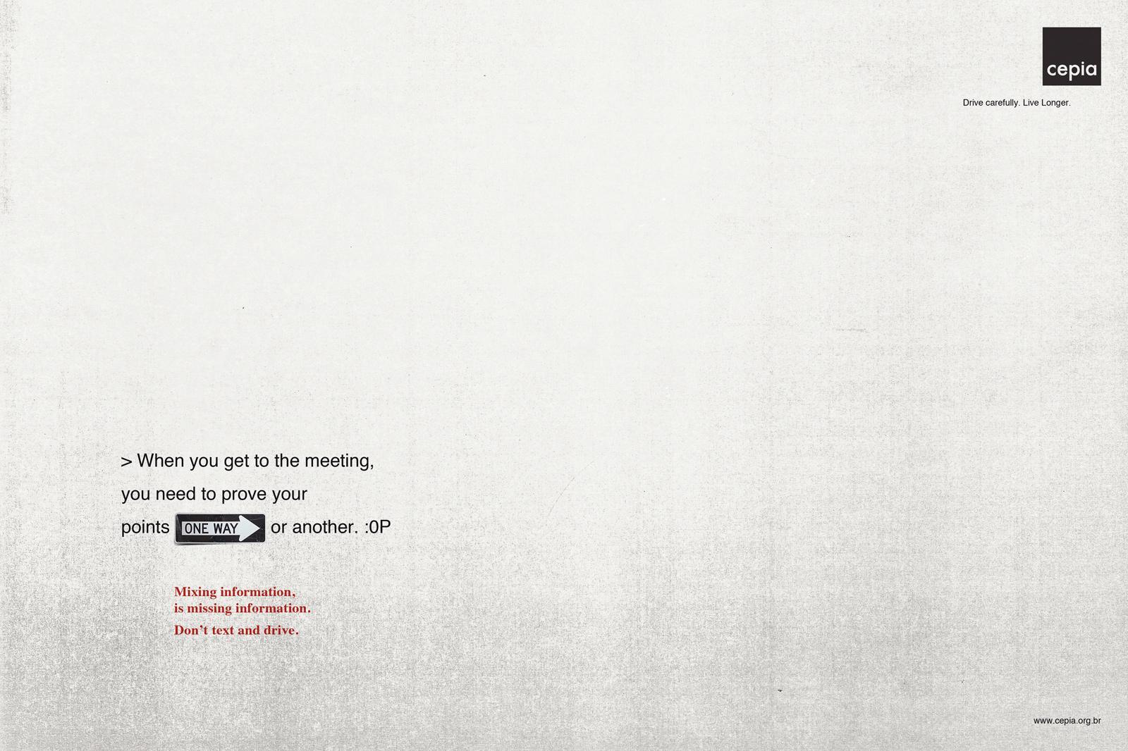 Cepia Print Ad -  Oneway