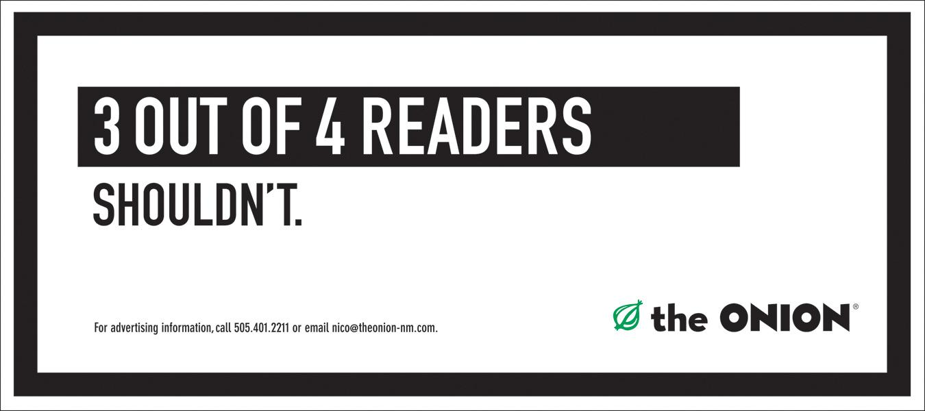The Onion Outdoor Ad -  3 of 4