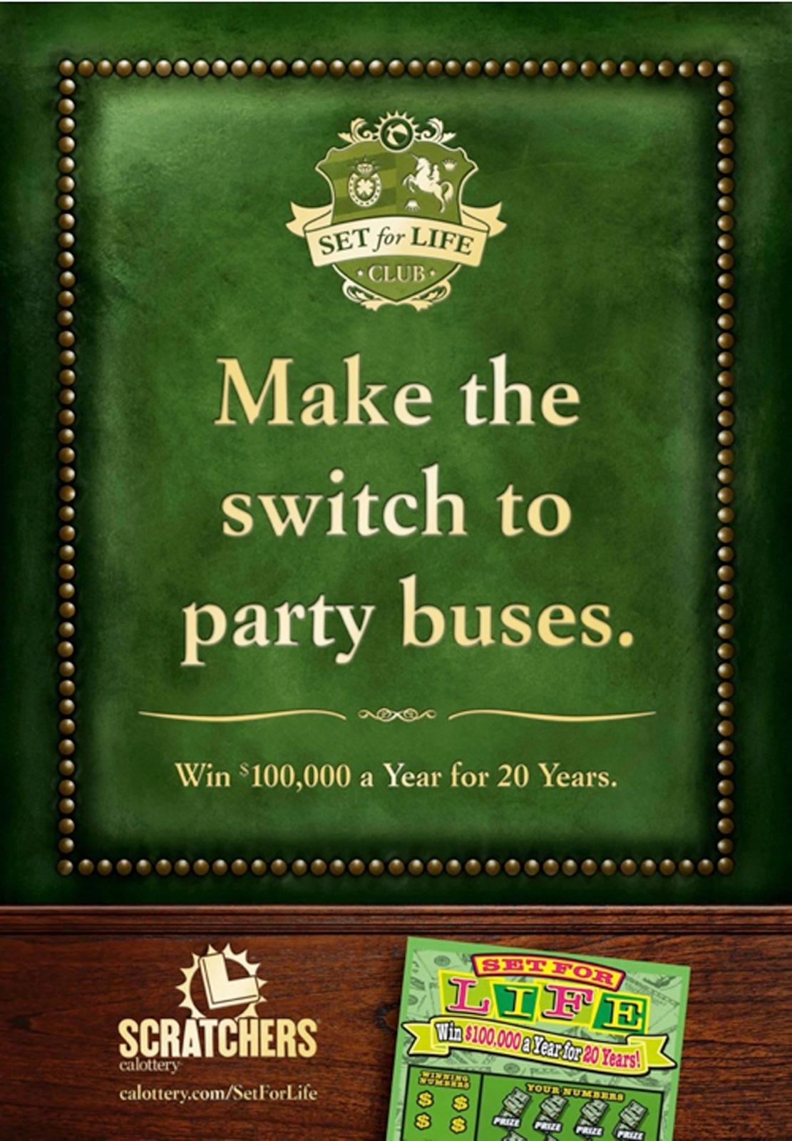 The California Lottery Outdoor Ad -  Make the switch