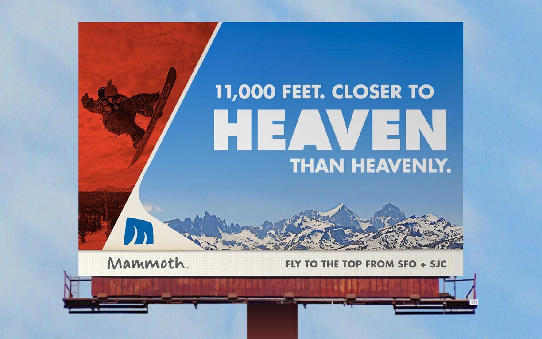Mammoth Mountain Ski Resort Outdoor Ad -  Heaven