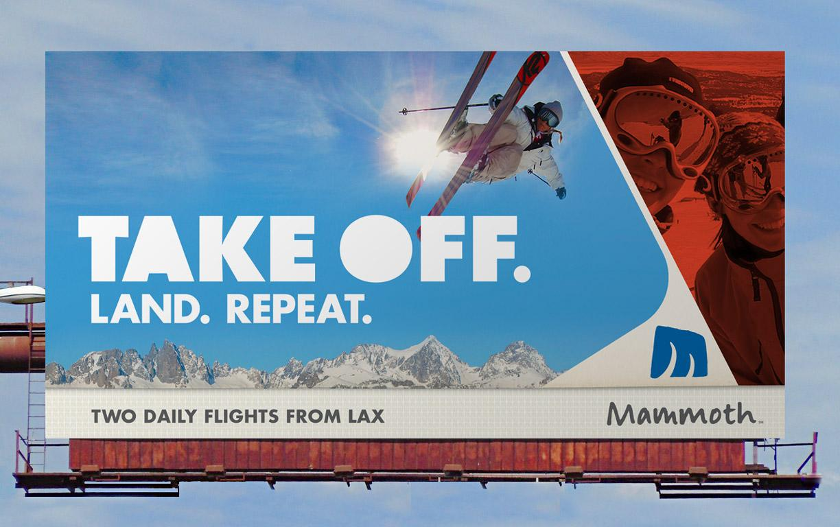 Mammoth Mountain Ski Resort Outdoor Ad -  Take off