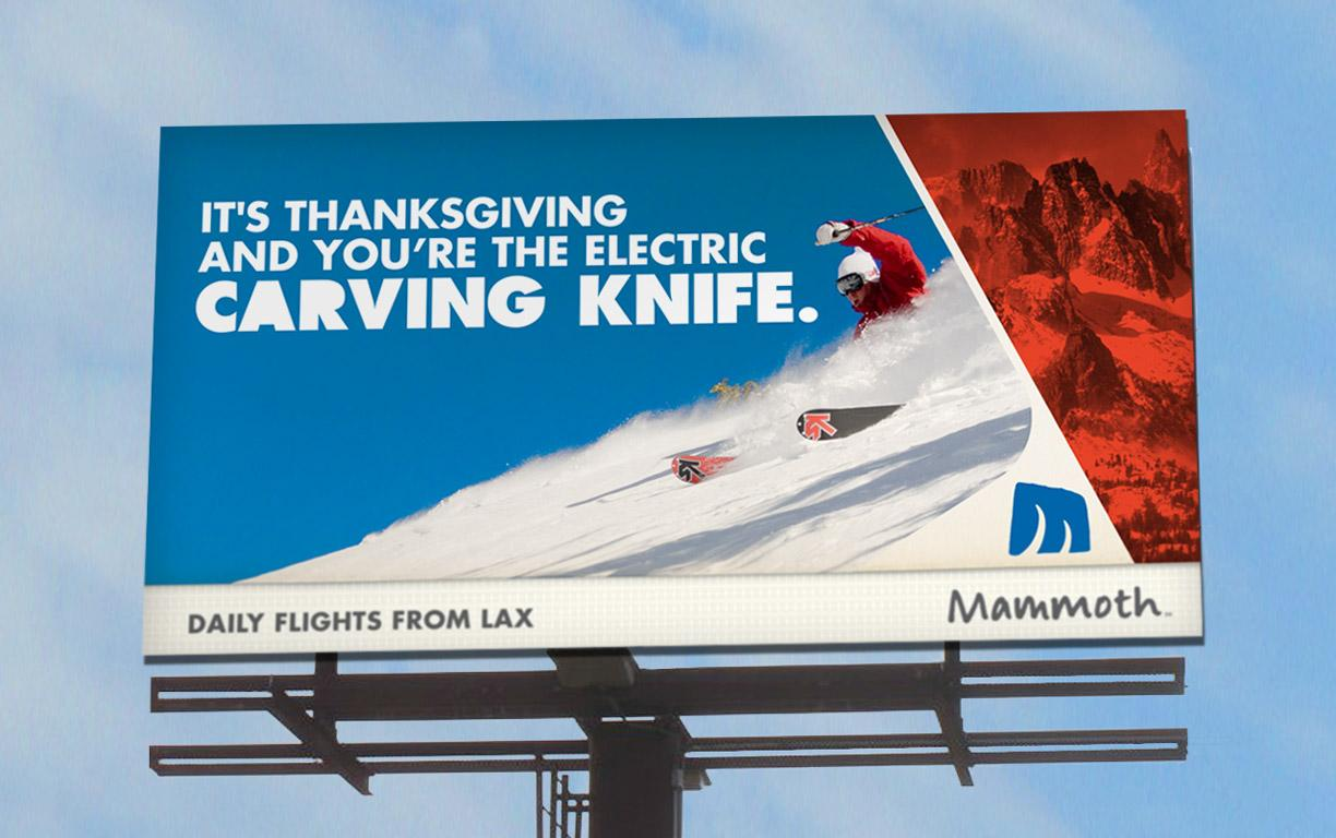Mammoth Mountain Ski Resort Outdoor Ad -  Carving knife