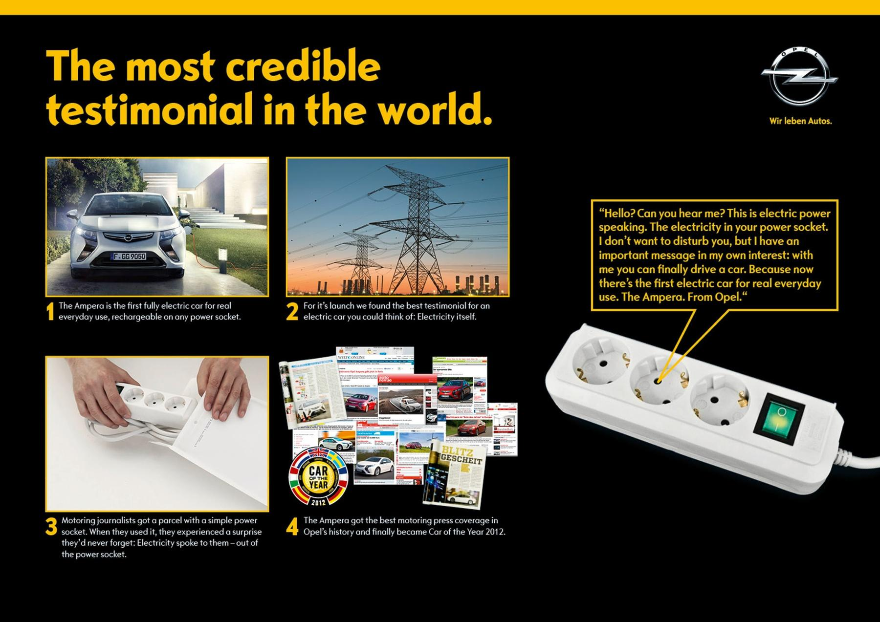 Opel Direct Ad -  The Most Credible Testimonial in the World