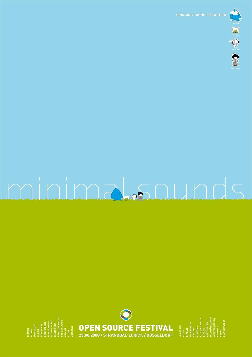 Open Source Festival Print Ad -  Minimal sounds