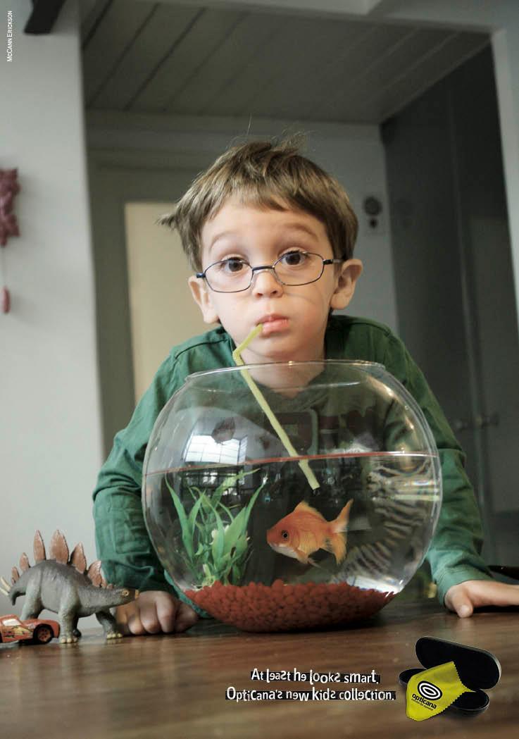 Opticana Print Ad -  Fishbowl