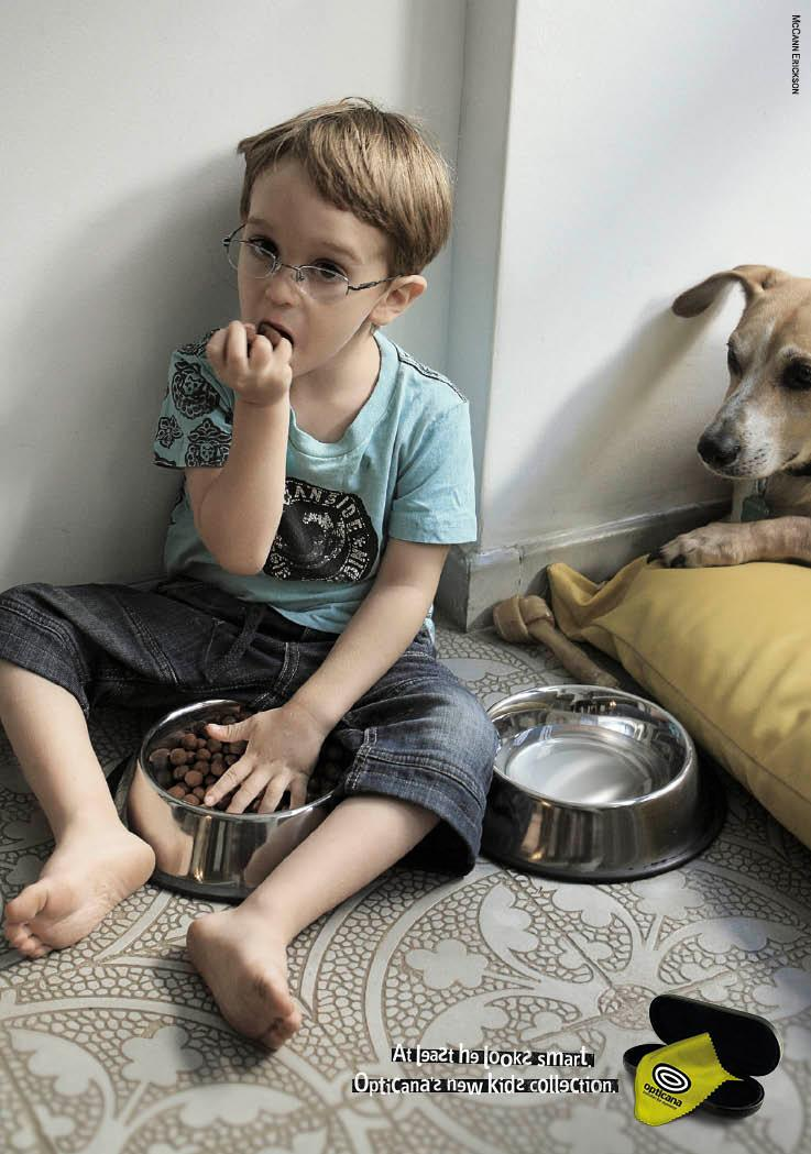 Opticana Print Ad -  Dog food