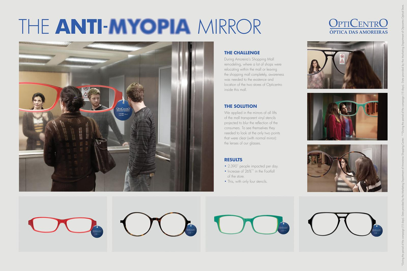 Opticentro Outdoor Ad -  Anti-myopia Mirror
