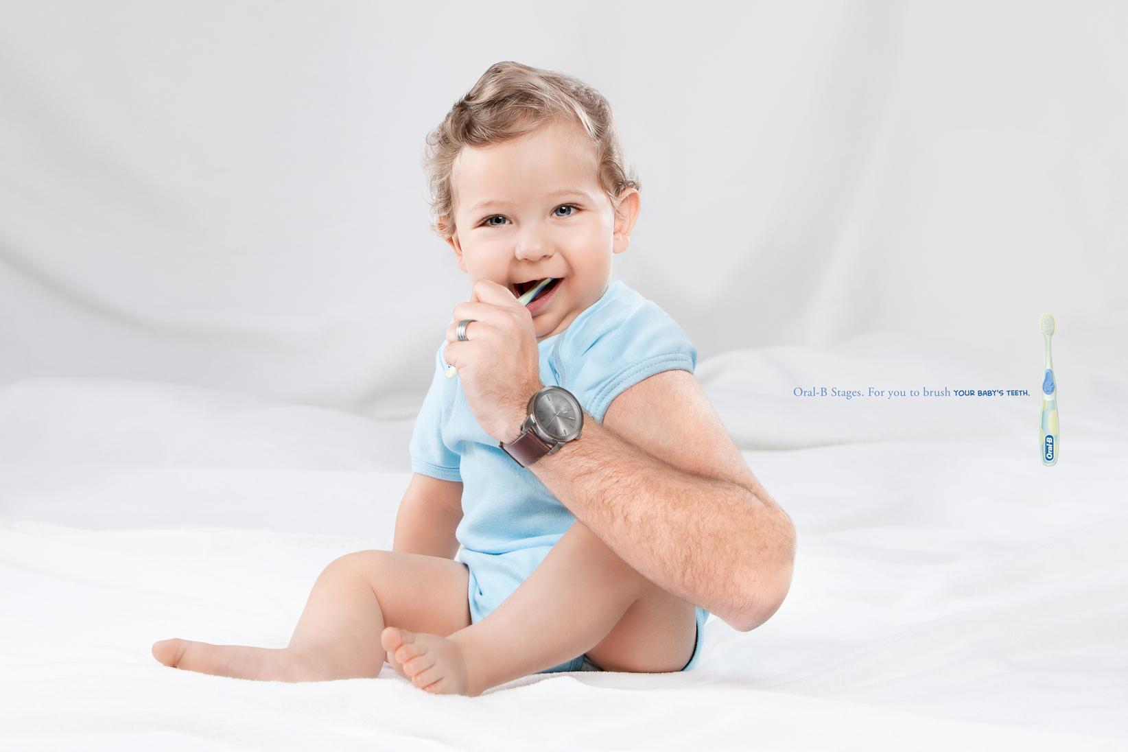 Oral-B Print Ad -  Babies, 1