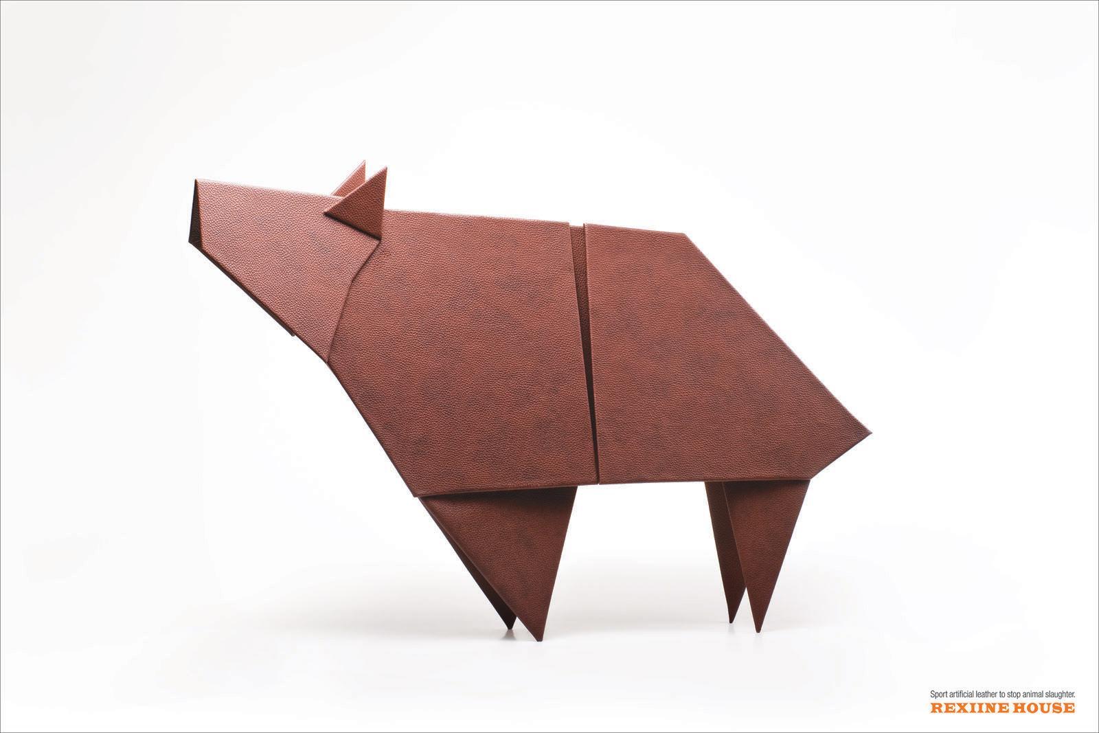 Rexiine House Print Ad -  Origami Bear