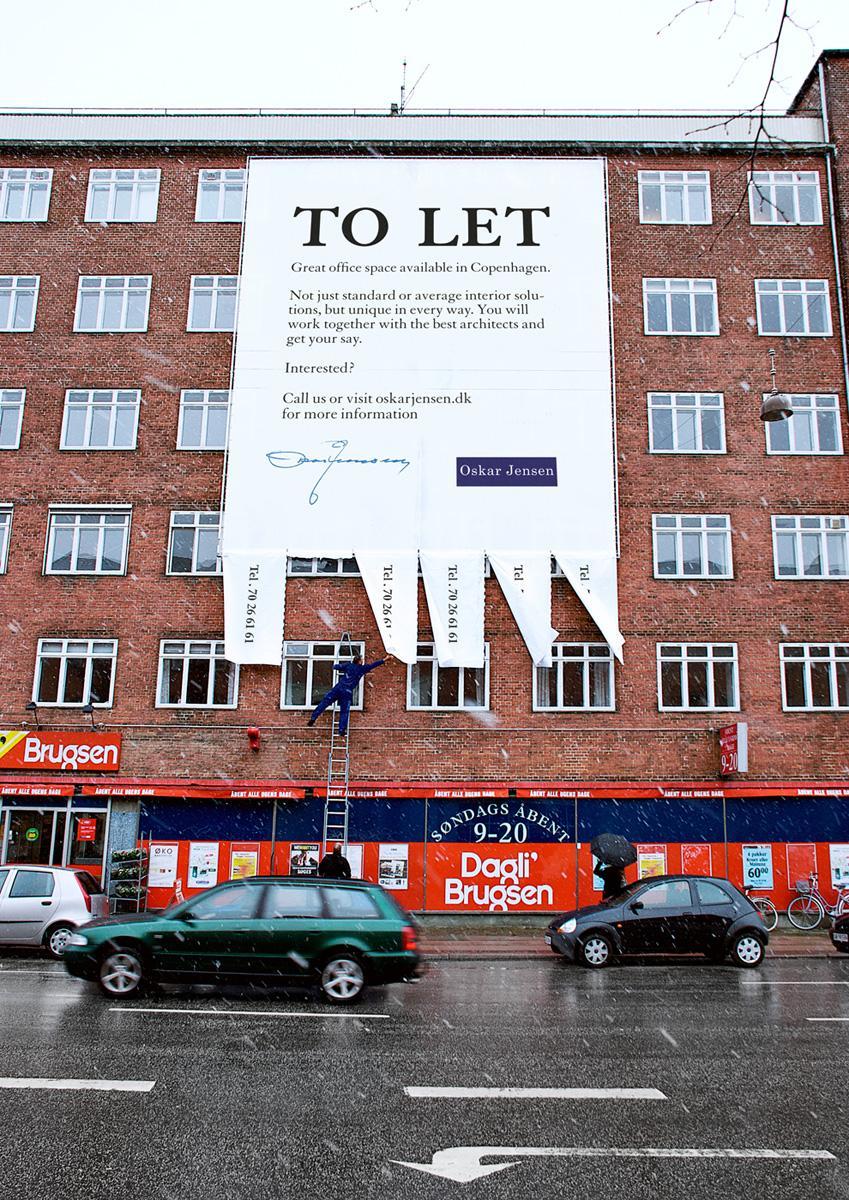 Oskar Jensen Ambient Ad -  To let