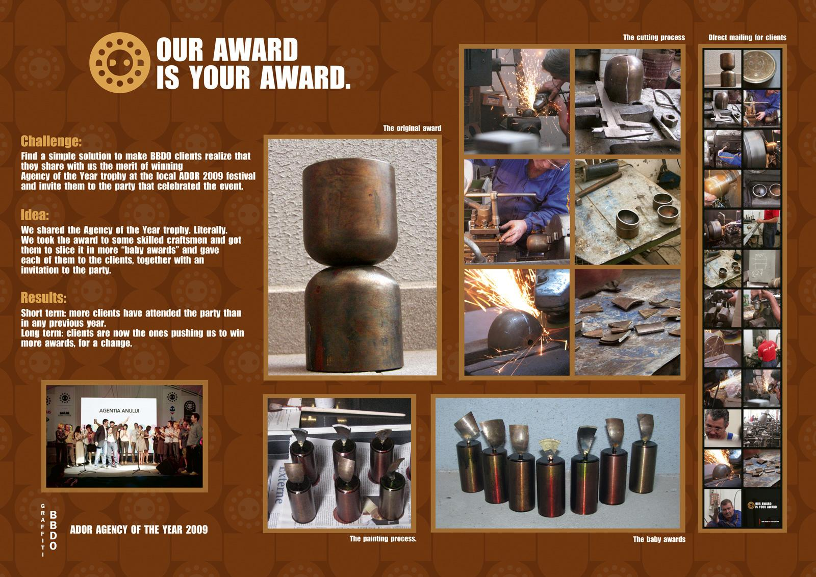 BBDO Direct Ad -  Our Award Is Your Award