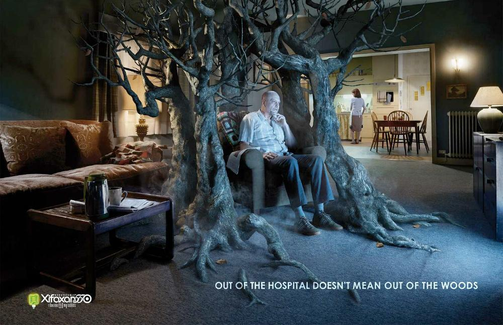 Xifaxan Print Ad -  Out of the woods, Man