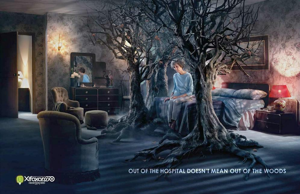 Xifaxan Print Ad -  Out of the woods, Woman