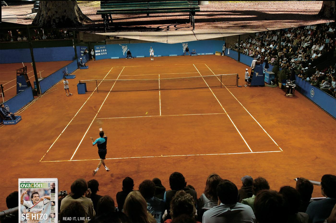 Ovacion Print Ad -  Tennis