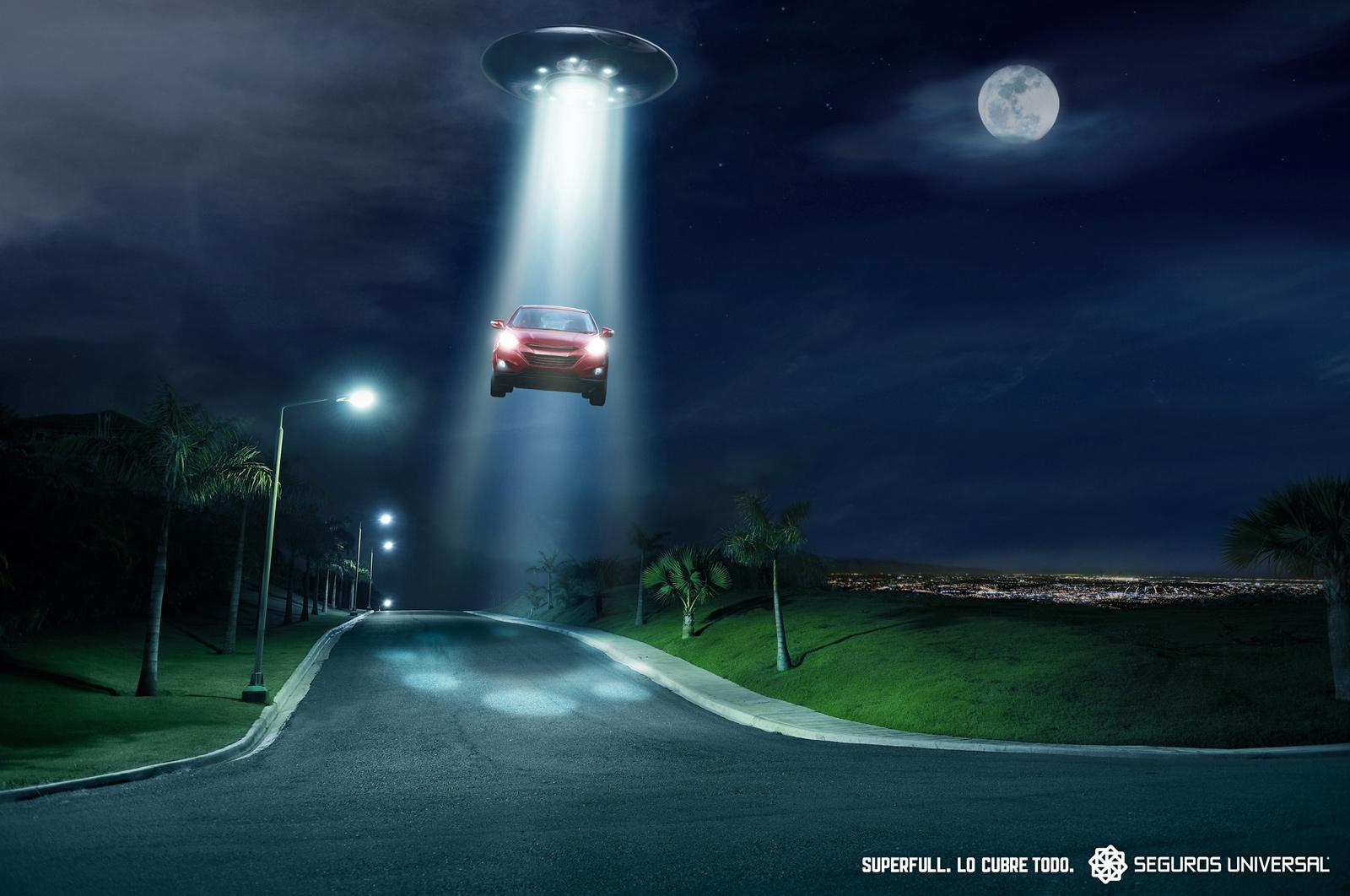 Universal Seguros Print Ad -  UFO