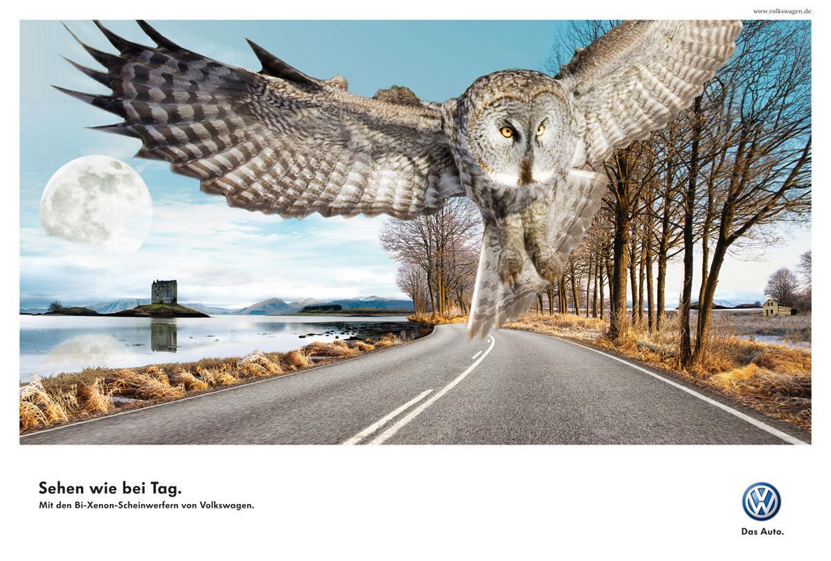 Volkswagen Print Ad -  Owl
